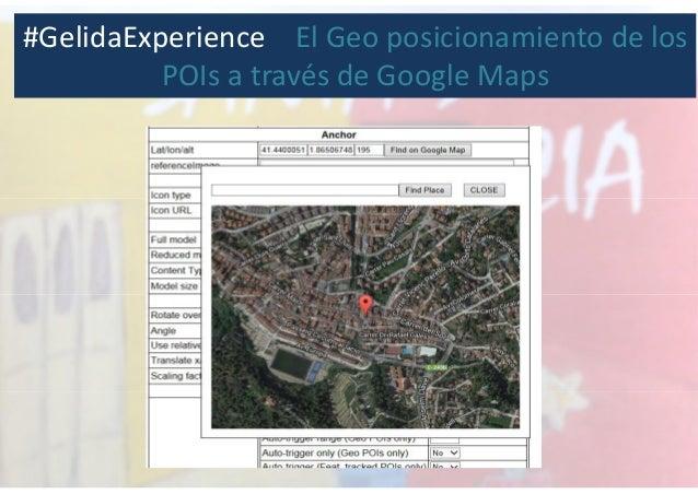 #GelidaExperience El Geo posicionamiento de los POIs a través de Google Maps