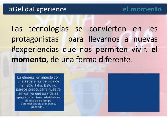 Las tecnologías se convierten en les protagonistas para llevarnos a nuevas #experiencias que nos permiten vivir, el moment...