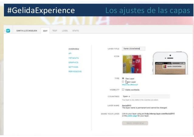 #GelidaExperience Los ajustes de las capas