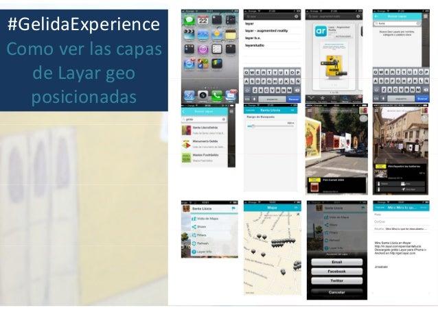 #GelidaExperience Como ver las capas de Layar geo posicionadas
