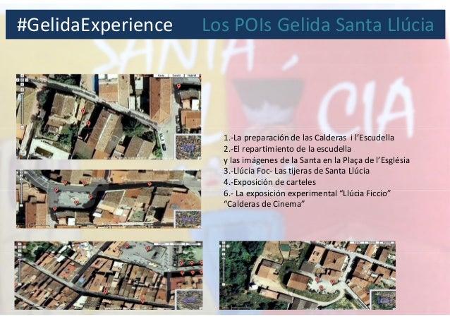1.-La preparación de las Calderas i l'Escudella 2.-El repartimiento de la escudella y las imágenes de la Santa en la Plaça...