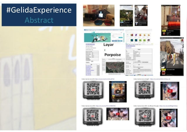 #GelidaExperience Abstract