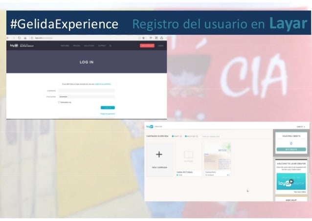 #GelidaExperience Registro del usuario en Layar