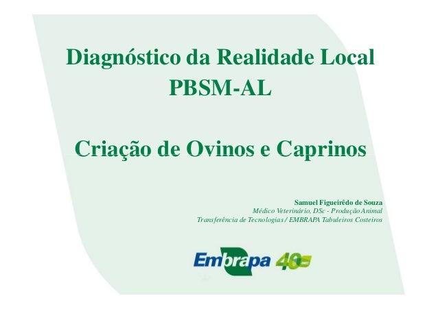 Diagnóstico da Realidade LocalPBSM-ALCriação de Ovinos e CaprinosCriação de Ovinos e CaprinosSamuel Figueirêdo de SouzaMéd...
