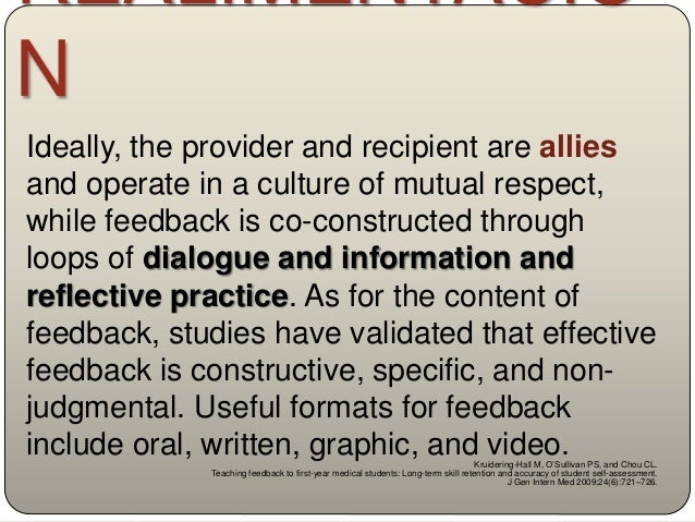 Further research is needed to determine how to reduce the tensions between faculty and learner perceptions of the feedback...