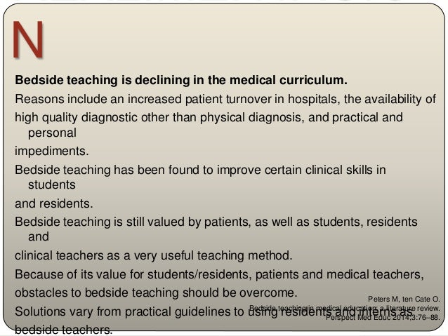 Bugaj TJ, Nikendei C. Practical clinical training in skills labs: theory and practice. GMS Journal for Medical Education 2...