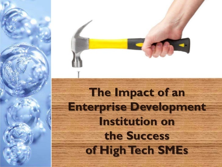 The Impact of anEnterprise Development      Institution on       the Success   of High Tech SMEs