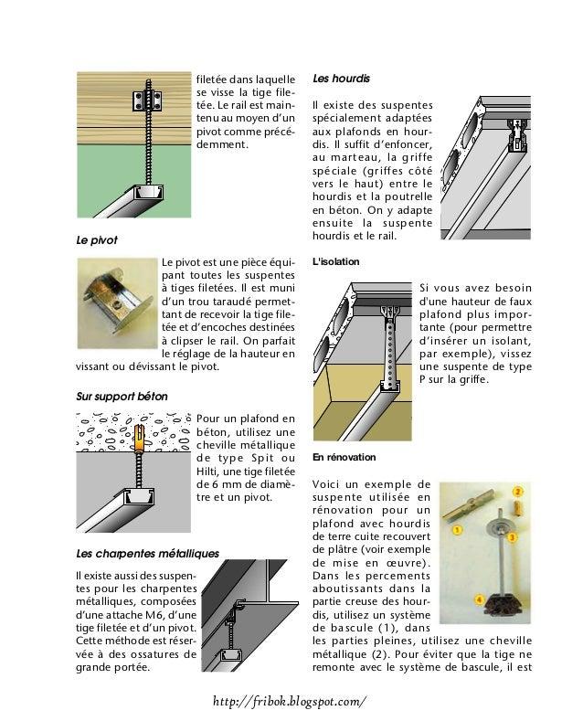 Realiser un faux plafond - Poids supporte par cheville molly ...