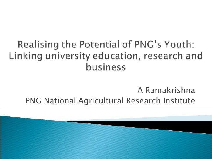 A Ramakrishna PNG National Agricultural Research Institute