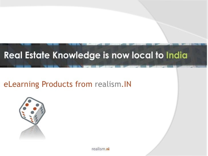 Strategies for Real Estate<br />eLearning Products from realism.IN<br />
