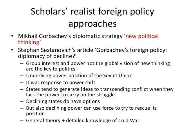 realism in international affairs essay Six principles of political realism  a realist theory of international politics,  under secretary for foreign affairs hardinge remarked to him in 1908:.