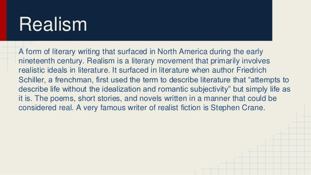 the literature of realism essay Read and learn for free about the following article: a beginner's guide to realism.