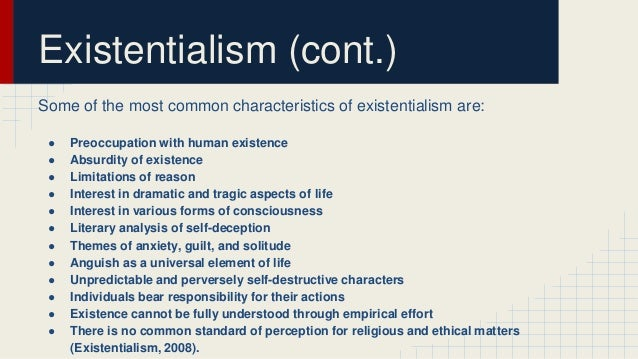 An analysis of existentialism