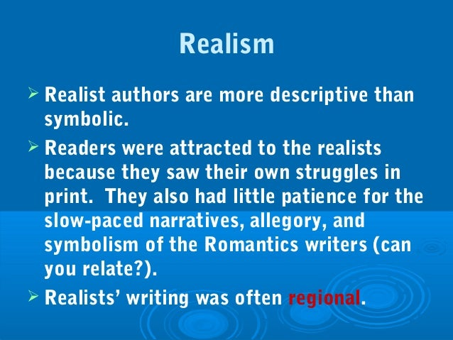 realism and naturalism essay An essay on american literary naturalism, including a bibliography of sources and links.