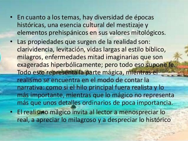 • En cuanto a los temas, hay diversidad de épocas  históricas, una esencia cultural del mestizaje y  elementos prehispánic...