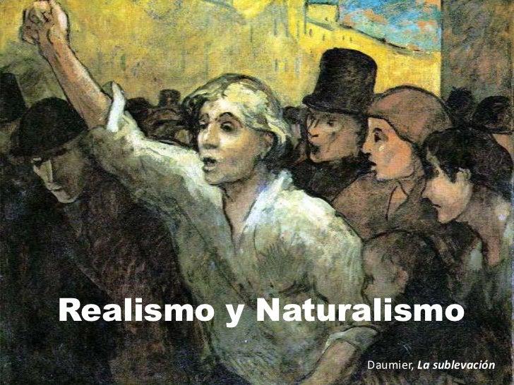 Realismo y Naturalismo<br />Daumier, La sublevación<br />