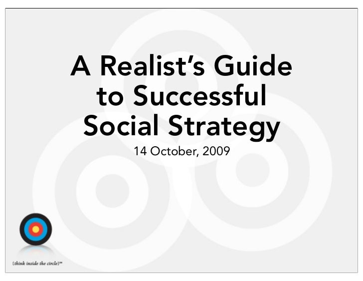 A Realist's Guide to Social Media Strategy