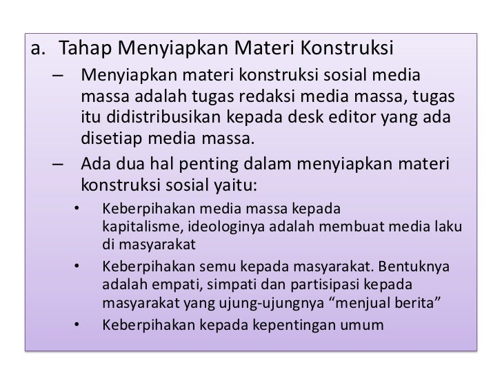Image Result For Konstruksi Realitas Media