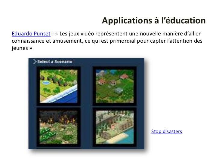Applications à l'éducationEduardo Punset : « Les jeux vidéo représentent une nouvelle manière d'allierconnaissance et amus...