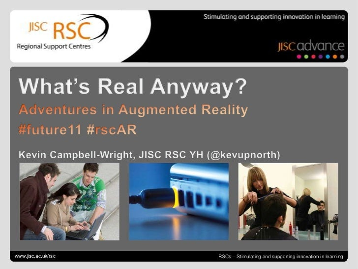 Go to View > Header & Footer to edit<br />June 15, 2011| slide 1<br />What's Real Anyway?<br />Adventures in Augmented Rea...