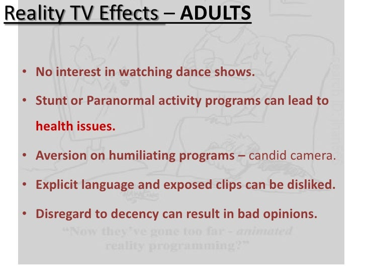 the effects of reality tv