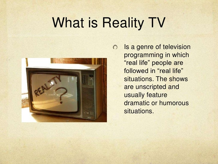 reality tv what is it