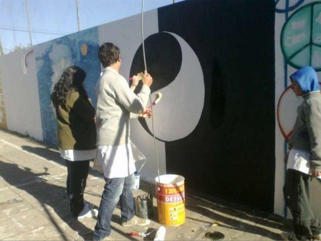 Realización de murales. esteban y renata Slide 3
