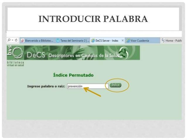 INTRODUCIR PALABRA