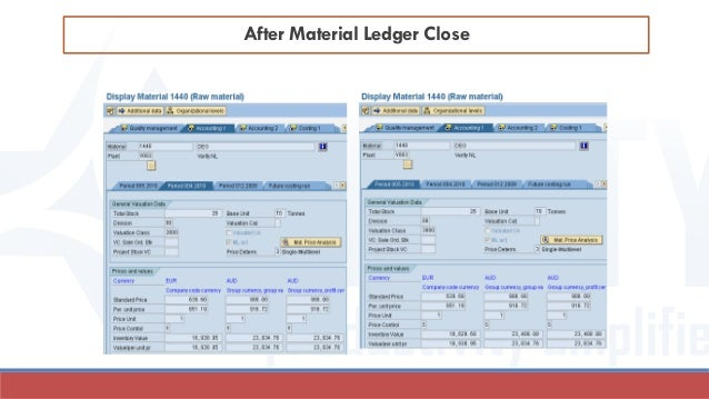 After Material Ledger Close