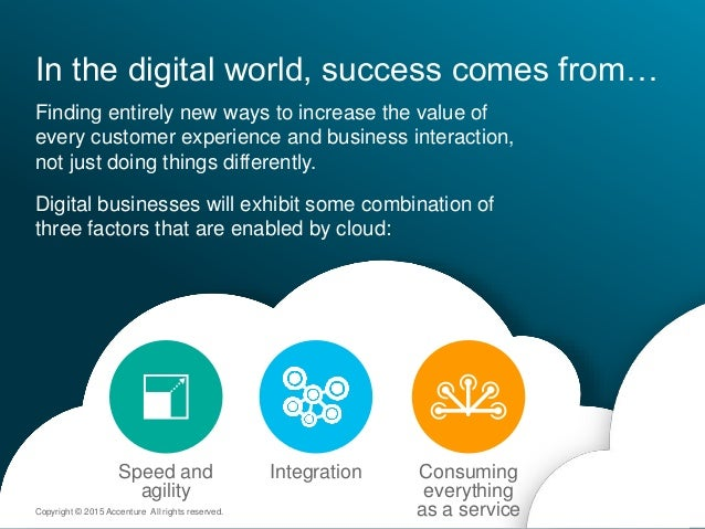 In the digital world, success comes from… Finding entirely new ways to increase the value of every customer experience and...