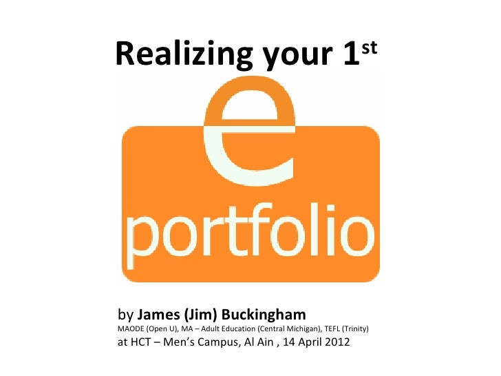 Realizing your 1                                                    stby James (Jim) BuckinghamMAODE (Open U), MA – Adult ...