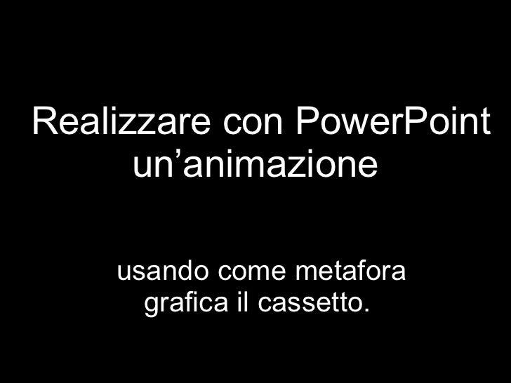 Realizzare con PowerPoint un'animazione  usando come metafora grafica il cassetto.
