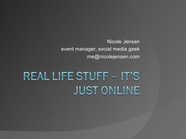 Nicole Jensenevent manager, social media geek          me@nicolejensen.com