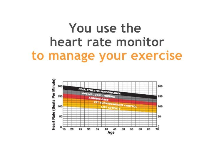 You use the  heart rate monitor to manage your exercise
