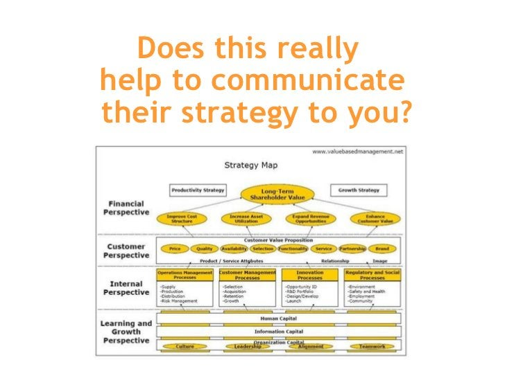 Does this really  help to communicate  their strategy to you?