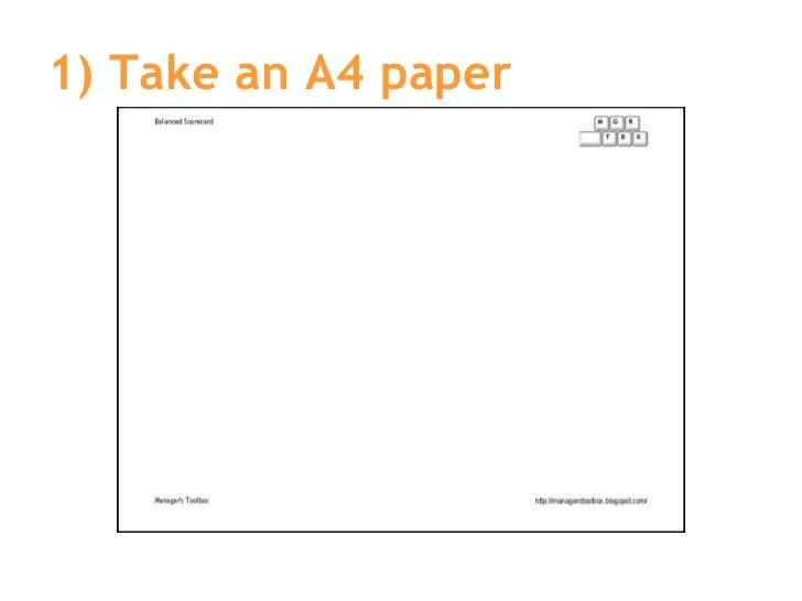 1) Take an A4 paper