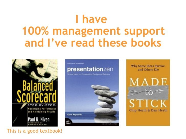 I have  100% management support and I've read these books This is a good textbook!