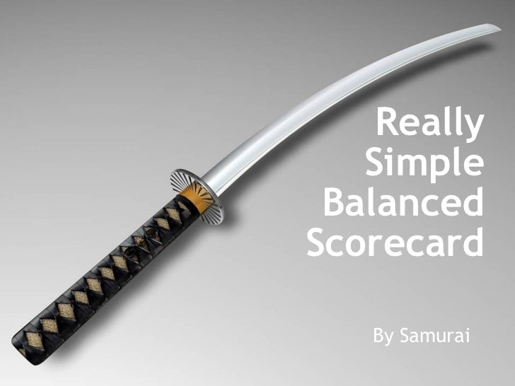 Really Simple Balanced Scorecard By Samurai