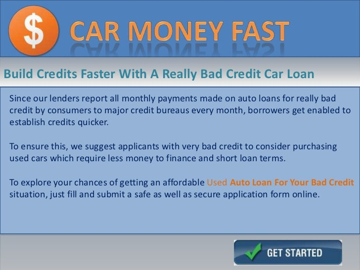 Loans For Bad Credit With Monthly Payments >> Really Bad Credit Car Loans, Get Auto Loans With Guaranteed Approval