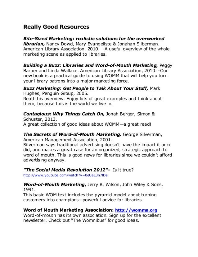 Really Good Resources Bite-Sized Marketing: realistic solutions for the overworked librarian, Nancy Dowd, Mary Evangeliste...