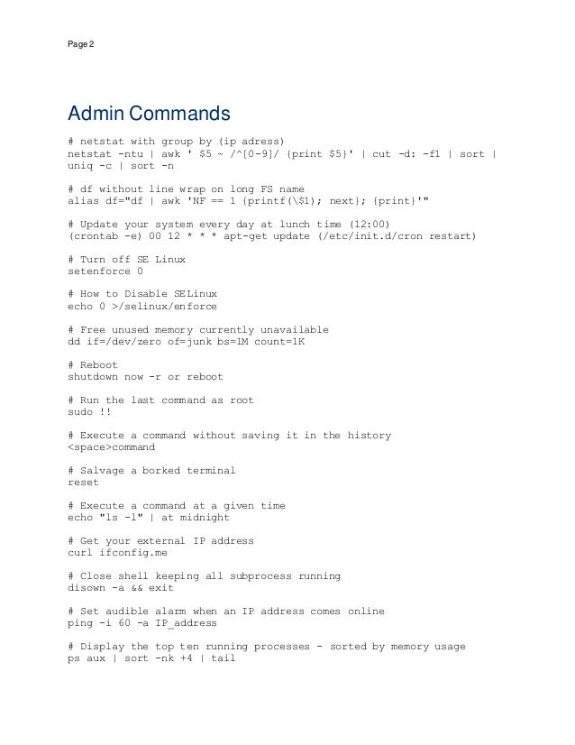 Really useful linux commands