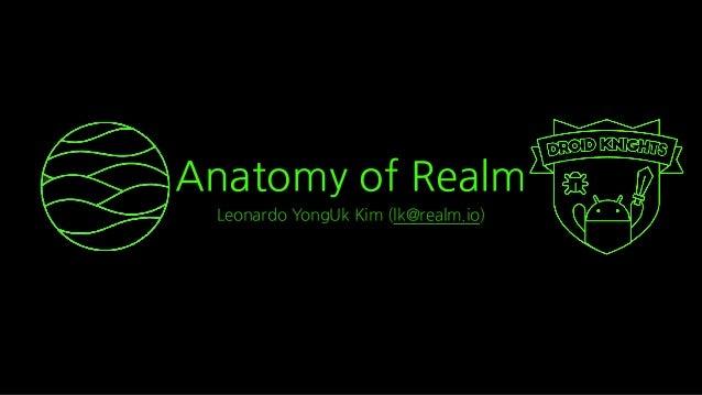 Anatomy of Realm Leonardo YongUk Kim (lk@realm.io)