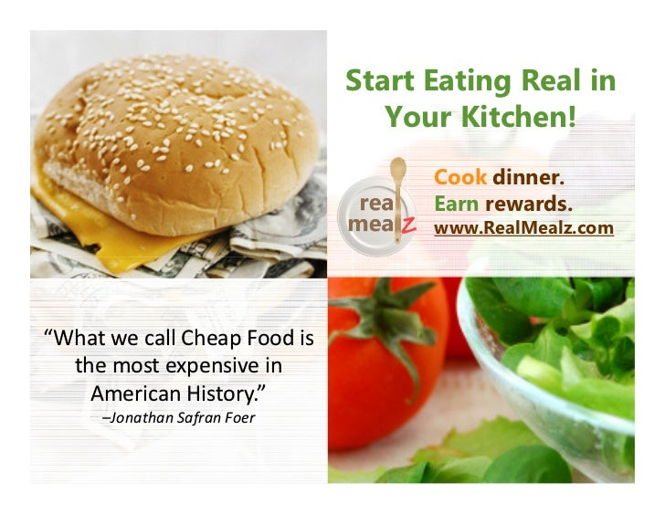 Start Eating Real in                                 Your Kitchen!                                    Cook dinner.        ...