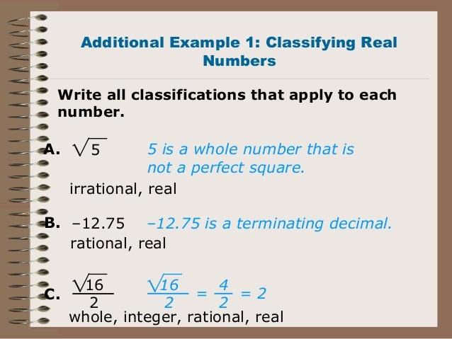 How to classify numbers?