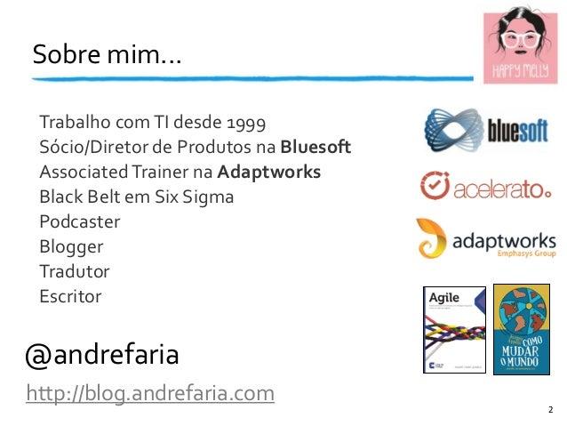 Sobre  mim... @andrefaria http://blog.andrefaria.com Trabalho  com  TI  desde  1999 Sócio/Diretor  de  Produ...