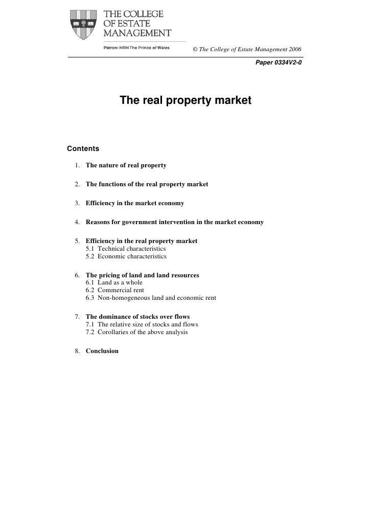 © The College of Estate Management 2006                                                                 Paper 0334V2-0    ...