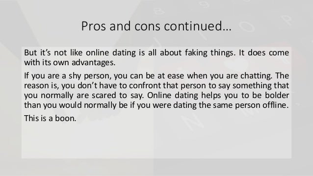 Pro Contra online dating