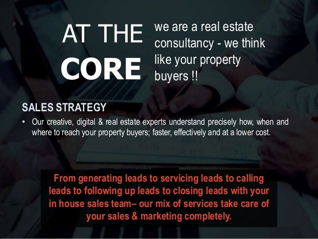 we are a real estate consultancy - we think like your property buyers !! • Our creative, digital & real estate experts und...