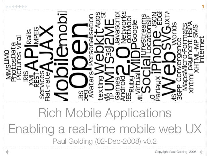 1          Rich Mobile Applications Enabling a real-time mobile web UX        Paul Golding (02-Dec-2008) v0.2             ...