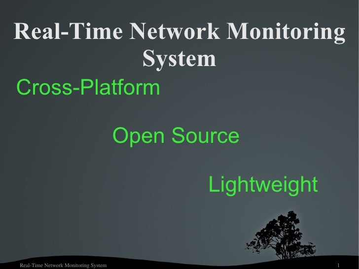 Real-Time Network Monitoring System Cross-Platform  Open Source Lightweight